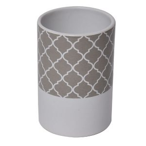 Collection Escal Dolomite Bathroom Tumbler Taupe