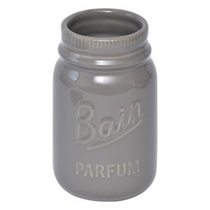Mason Jar Collection Bathroom Stoneware Tumbler Taupe