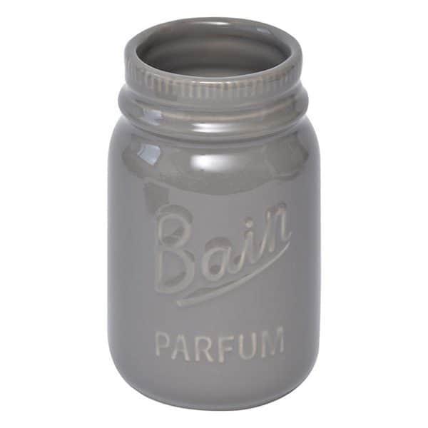 Mason Jar Collection Bathroom Stoneware Tumbler Taupe