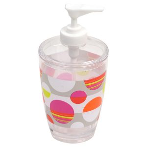Eclats Clear Acrylic Printed Bathroom Soap and Lotion Dispenser