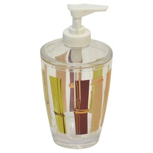 Java Clear Acrylic Printed Bathroom Soap and Lotion Dispenser