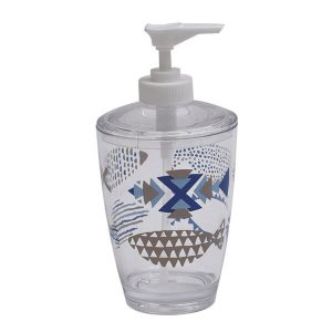 Clear Acrylic Printed Bathroom Soap and Lotion Dispenser Nautical