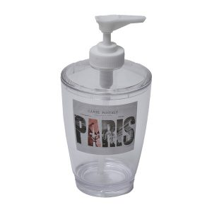 Clear Acrylic Pump Soap Dispenser Lotion Dispenser Paris City