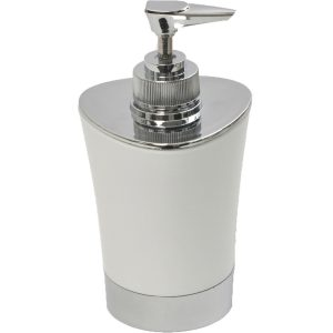 Bathroom Soap and Lotion Dispenser -Chrome Parts- White