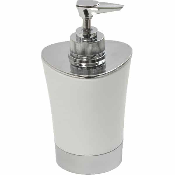 Bathroom Soap and Lotion Dispenser -Chrome Parts- White
