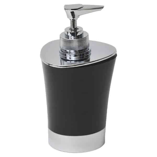 Bathroom Soap and Lotion Dispenser -Chrome Parts- Black