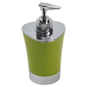 Bathroom Soap and Lotion Dispenser -Chrome Parts- Lime Green