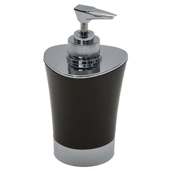 Bathroom Soap and Lotion Dispenser -Chrome Parts- Brown