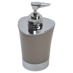Bathroom Soap and Lotion Dispenser -Chrome Parts- Taupe
