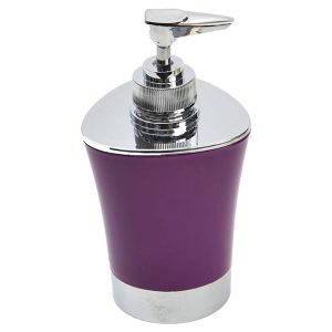 Bathroom Soap and Lotion Dispenser -Chrome Parts -Purple