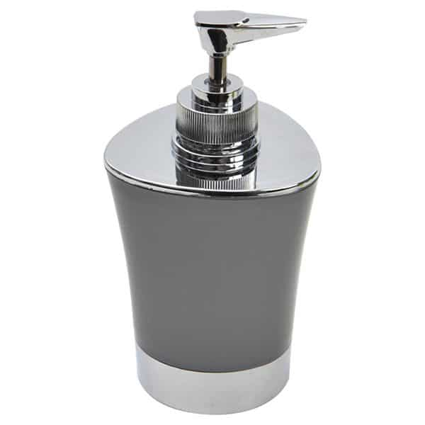 Bathroom Soap and Lotion Dispenser -Chrome Parts- Grey