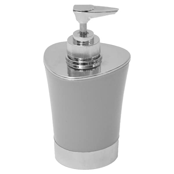 Bathroom Soap and Lotion Dispenser -Chrome Parts- Light Grey