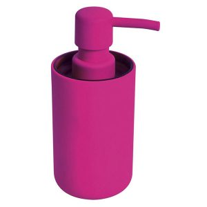 Bathroom Vanity Soap And Lotion Dispenser Soft Touch DESIGN Pink Fuchsia