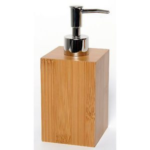 Ecobio Square Bamboo Bathroom Soap and Lotion Dispenser Color: Brown