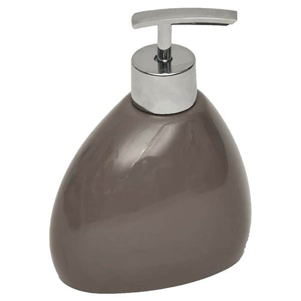 Elegance Bathroom Vanity Soap and Lotion Dispenser Color: Brown Taupe