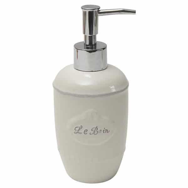 Collection Le Bain Stoneware Bathroom Soap Dispenser White