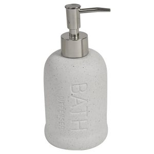 Stoneware Bathroom Soap Dispenser BATH Sand Stone Effect ecru