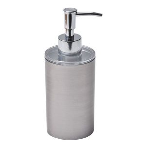 Bathroom Countertop Soap And Lotion Dispenser NOUMEA Metallized Effect
