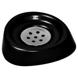 Bathroom Soap Dish Cup -Chrome Parts- Black