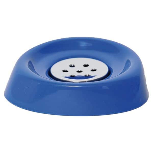 Bathroom Soap Dish Cup -Chrome Parts- Navy Blue