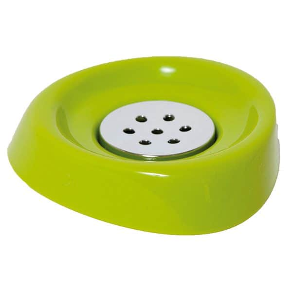 Bathroom Soap Dish Cup -Chrome Parts- Lime Green
