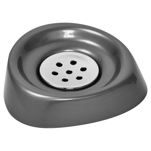 Bathroom Soap Dish Cup -Chrome Parts- Grey