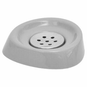 Bathroom Soap Dish Cup -Chrome Parts- Light Grey