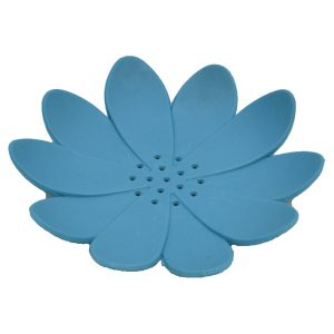Bathroom Soap Dish Cup WATER LILY Solid Blue