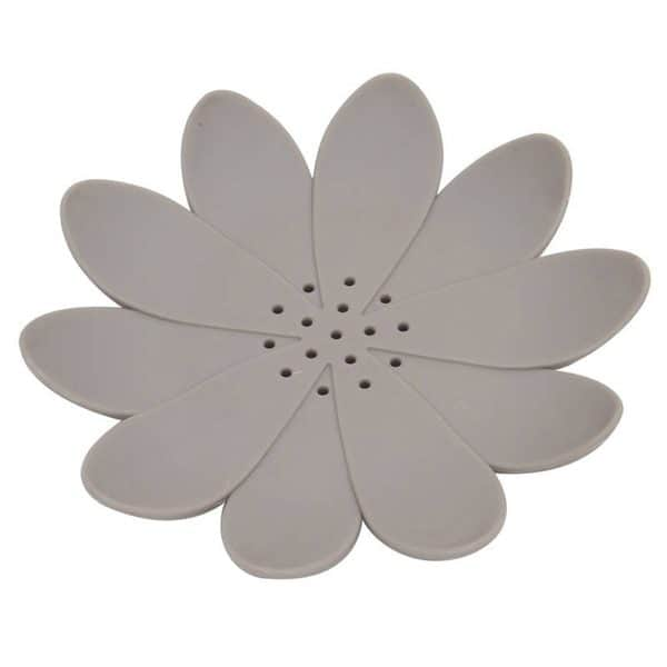 Counter Top Bathroom Soap Dish Cup WATER LILY Solid Taupe