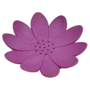 Bathroom Soap Dish Cup WATER LILY Solid Purple