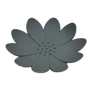 Bathroom Soap Dish Cup WATER LILY Solid Gray