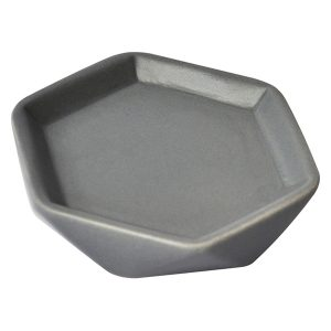 Collection Diamond Bathroom Soap Dish Cup Stoneware Grey