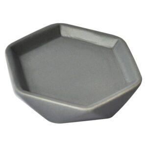 Collection Diamond Bathroom Soap Dish Cup Stoneware Grey