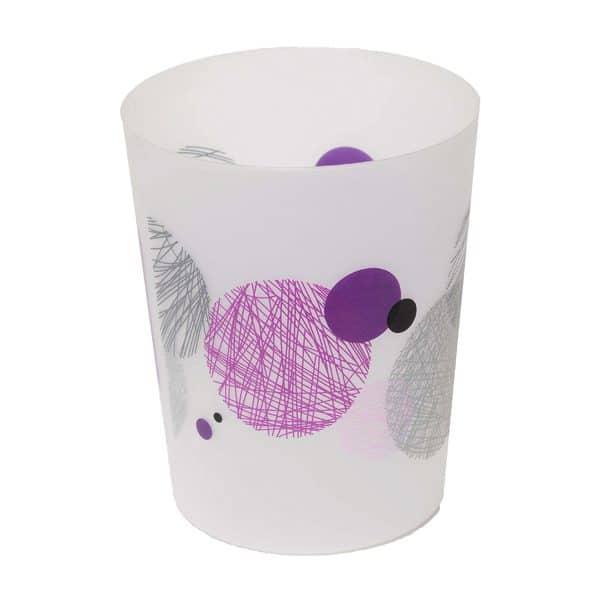 Printed Bath Trash Can Waste Bin Valentine 4.5-liter/1.2-gals