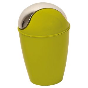 Round Bathroom Floor Trash Can Waste Bin 4.5-liters/1.2-gal - Lime Green