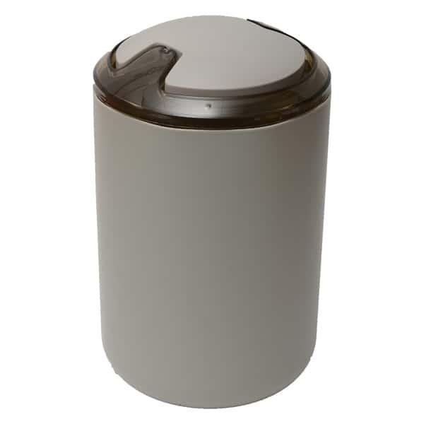 DESIGN Round Bathroom Floor Step Trash Can Waste Bin Top Swing Lid - Plastic 6-