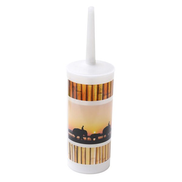 Bathroom Free Standing Printed Toilet Bowl Brush and Holder, The Island