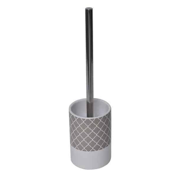 Escal Bathroom Free Standing Toilet Bowl Brush and Holder Taupe