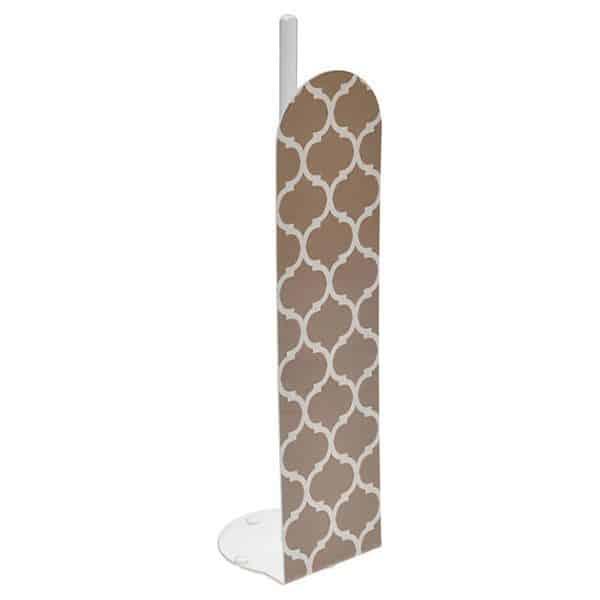 Escal Printed Bathroom Freestanding Toilet Tissue Paper Roll Holder Reserve 4 Rolls