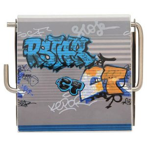 Graffiti Wall Mounted Bathroom Printed Toilet Tissue One Roll Dispenser