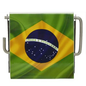 Brazil Wall Mounted Bathroom Printed Toilet Tissue One Roll Dispenser