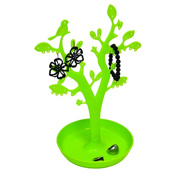 EVE Bathroom Tree Shape Jewelry Storage Organizer and Holder Color: Green