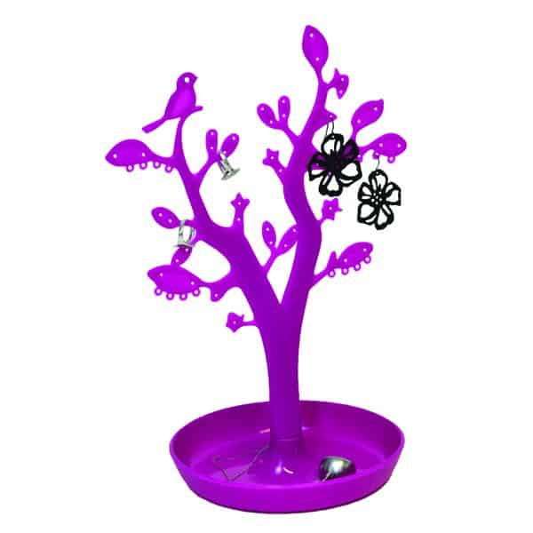 EVE Bathroom Tree Shape Jewelry Storage Organizer and Holder Color: Purple
