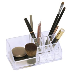 BOREAL Bathroom Makeup and Cosmetic Storage Organizer 9 compartments Open Top