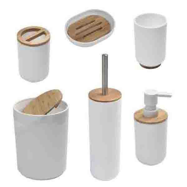 Padang Bamboo Bathroom Accessory Set, 6-Piece Set