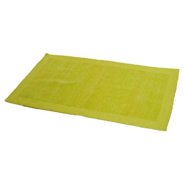 Cotton with Velvet Border Bathroom Mat Home Rug 20W X 31.5L Green
