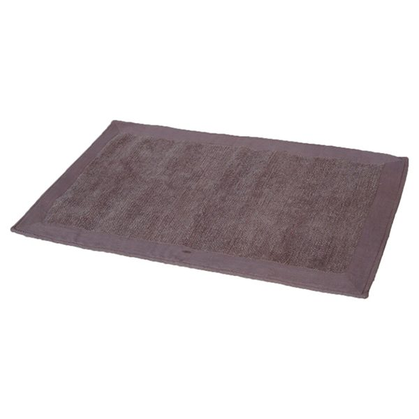 Cotton with Velvet Border Bathroom Mat Home Rug 20W X 31.5L Taupe Brown Glaze