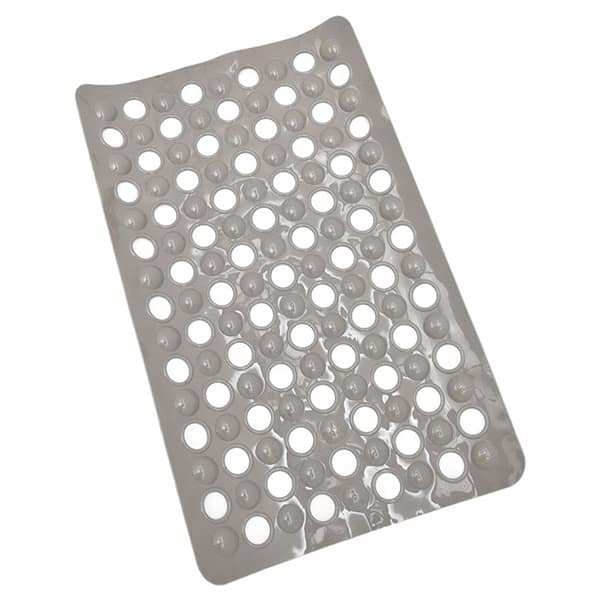 Non Skid Bath Tub Mat With Holes Suction Cups 23 5 Lx 15 W Solid