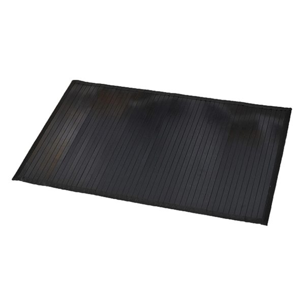 "Bamboo Rug Bathroom Mat Anti Slippery 31.5""L x 20""W BLACK"