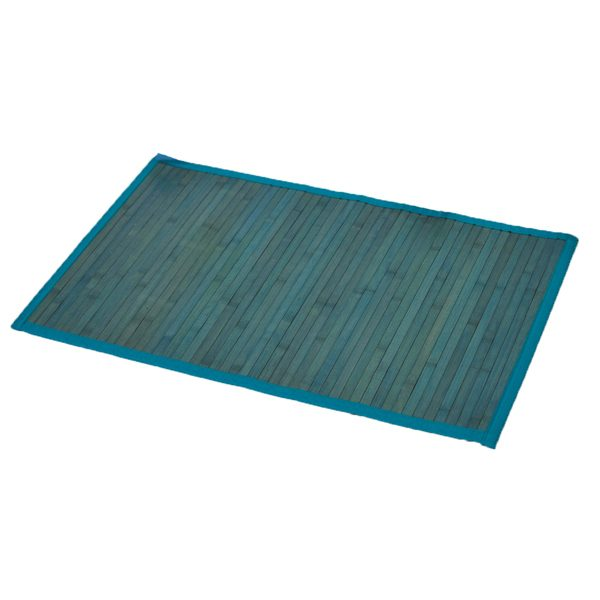 "Bamboo Rug Bathroom Mat Anti Slippery 31.5""L x 20""W BLUE"